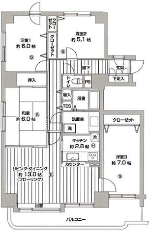 ガーデンハウス手稲図面85-90